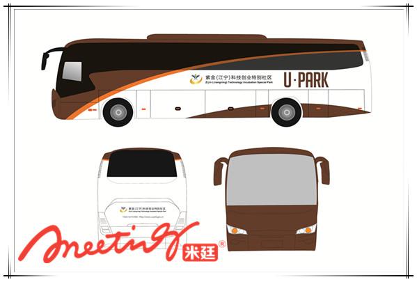 园区接送班车车身广告设计图-南京车贴制作服务哪家好